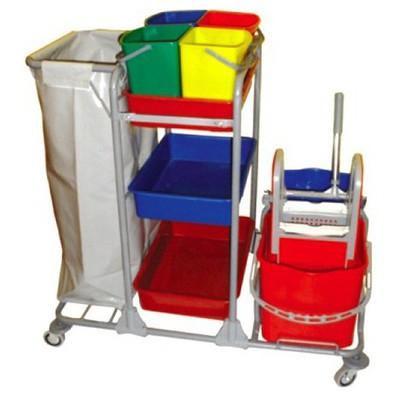 Ceyhanlar Kat Arabası Çift Kovalı + Çöp Toplamalı + Brandalı + 4 Kova Kova ve Temizlik Setleri
