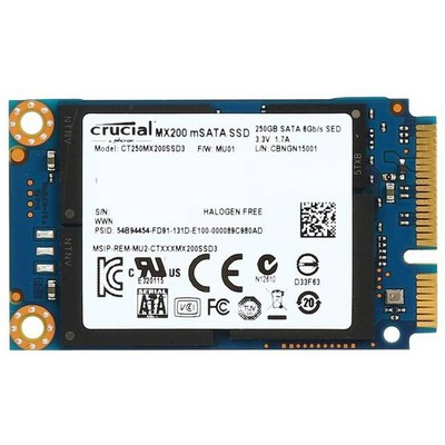 Crucial 250gb MX200 mSATA SSD - CT250MX200SSD3