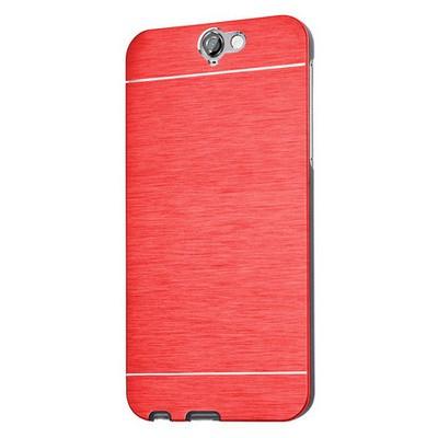 Microsonic Htc One A9 Kılıf Hybrid Metal Kırmızı Cep Telefonu Kılıfı
