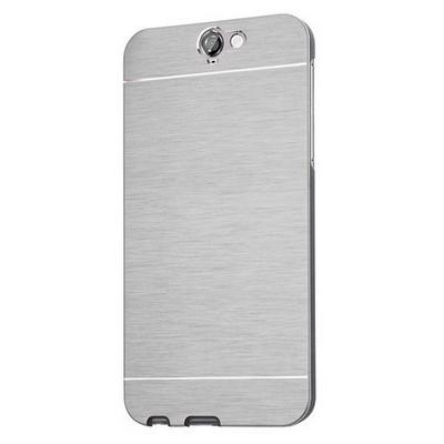 Microsonic Htc One A9 Kılıf Hybrid Metal Gümüş Cep Telefonu Kılıfı