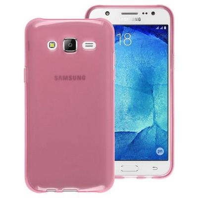 Microsonic Samsung Galaxy J5 Kılıf Transparent Soft Pembe Cep Telefonu Kılıfı