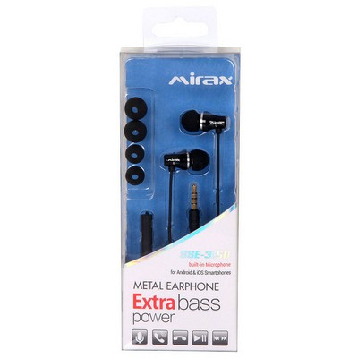 Mirax Extra Bass Mikrofonlu Metal Kulaklık Siyah Kulak İçi Kulaklık