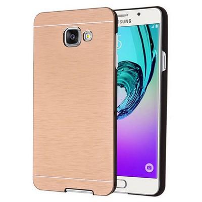 Microsonic Samsung Galaxy A7 2016 Kılıf Hybrid Metal Gold Cep Telefonu Kılıfı