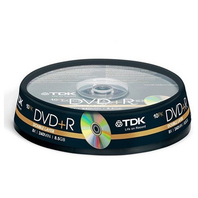 TDK DVD+R 8x 8.5GB Double Layer 10'lu Cakebox CD/DVD