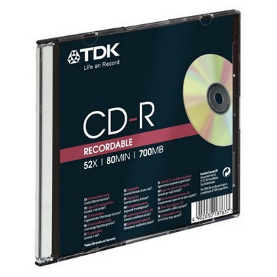 TDK CD-R 52x 700MB İnce Kutu CD/DVD