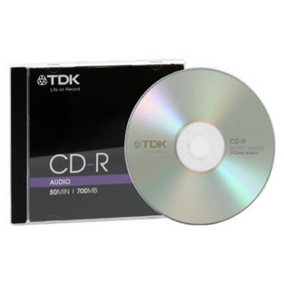 TDK CD-R Audio 700MB Kalın Kutu CD/DVD & Çanta