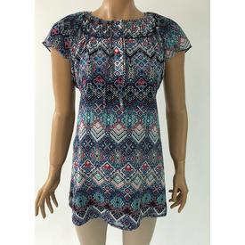 Trndy Trendy Hamile Şifon Bluzsomon Lacivert S Gömlek, Bluz, Tunik