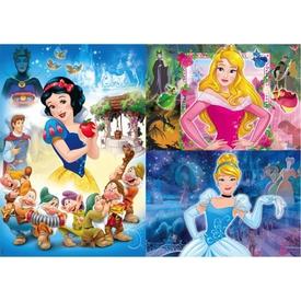 Clementoni Çocuk  3x48 Parça Disney Princess Puzzle