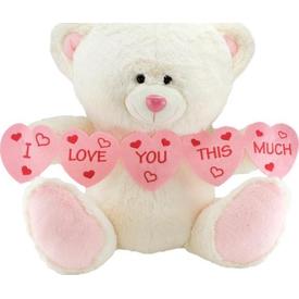 Neco Plush I Love You Thıs Much Kalpli Peluş Ayı 70 Cm Peluş Oyuncaklar