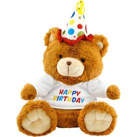 Neco Plush Oturan Happy Birthday Peluş Ayı 40 Cm Peluş Oyuncaklar