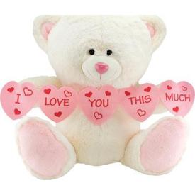 Neco Plush I Love You Thıs Much Kalpli Peluş Ayı 40 Cm Peluş Oyuncaklar
