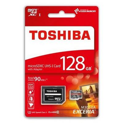 Toshiba 128GB Micro SDHC UHS-1 C10 THN-M302R1280EA Micro SD Kart