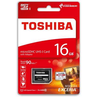 Toshiba 16GB Micro SDHC UHS-1 C10 THN-M302R0160EA