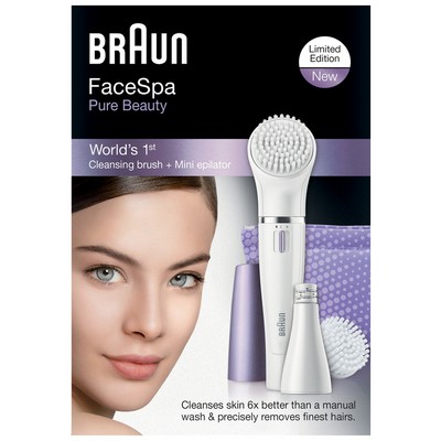Braun SE832N Face Yüz Epilatörü ve Temizleme Cihazı - Mor