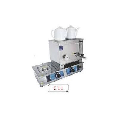 Remta C11 Çift Demlikli 30 Model Lpg Gazlı Kahveci Takımı Çay Makinesi