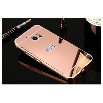 Microsonic Htc 10 Kılıf Luxury Mirror Rose Gold Cep Telefonu Kılıfı