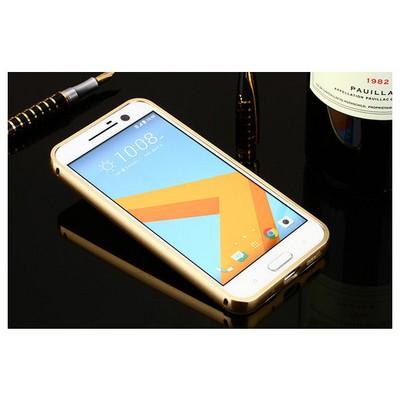 Microsonic Htc 10 Kılıf Luxury Mirror Gold Cep Telefonu Kılıfı