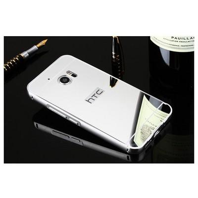 Microsonic Htc 10 Kılıf Luxury Mirror Gümüş Cep Telefonu Kılıfı