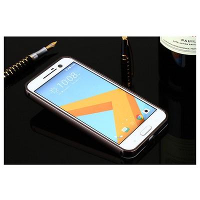 Microsonic Htc 10 Kılıf Luxury Mirror Siyah Cep Telefonu Kılıfı