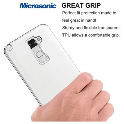 Microsonic Lg Stylus 2 Kılıf Clear Soft Şeffaf Cep Telefonu Kılıfı