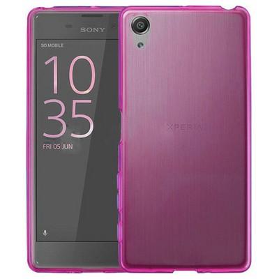 Microsonic Sony Xperia Xa Kılıf Transparent Soft Pembe Cep Telefonu Kılıfı