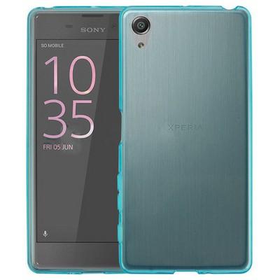 Microsonic Sony Xperia Xa Kılıf Transparent Soft Mavi Cep Telefonu Kılıfı