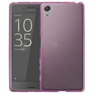 Microsonic Sony Xperia X Kılıf Transparent Soft Pembe Cep Telefonu Kılıfı