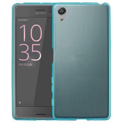 Microsonic Sony Xperia X Kılıf Transparent Soft Mavi Cep Telefonu Kılıfı