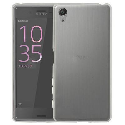 Microsonic Sony Xperia X Kılıf Transparent Soft Beyaz Cep Telefonu Kılıfı