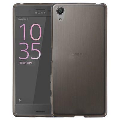 Microsonic Sony Xperia X Kılıf Transparent Soft Siyah Cep Telefonu Kılıfı