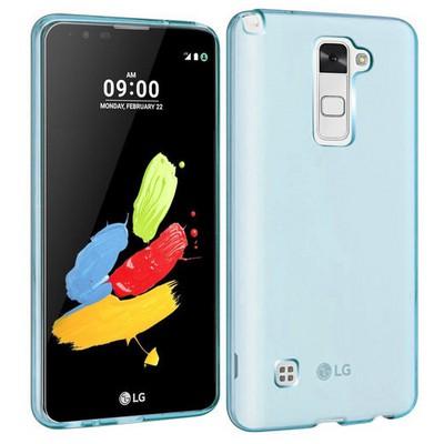 Microsonic Lg Stylus 2 Kılıf Transparent Soft Mavi Cep Telefonu Kılıfı