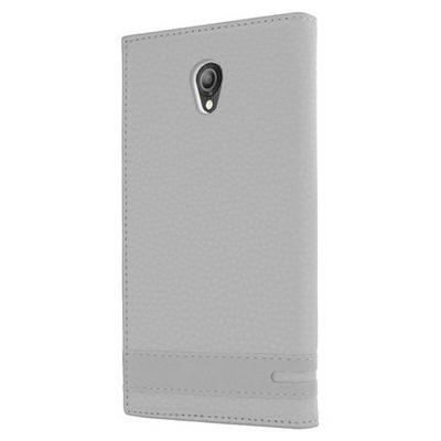 Microsonic Vodafone Smart Style 7 Kılıf Gizli Mıknatıslı Dual View Delux Beyaz Cep Telefonu Kılıfı