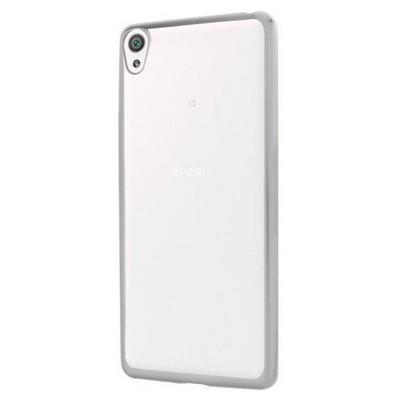Microsonic Sony Xperia Xa Kılıf Flexi Delux Gümüş Cep Telefonu Kılıfı