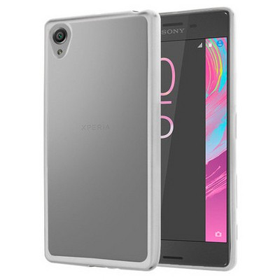 Microsonic Sony Xperia X Kılıf Flexi Delux Gümüş Cep Telefonu Kılıfı