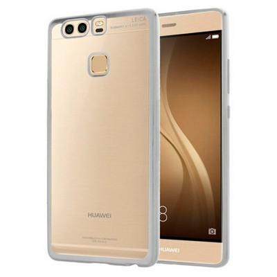 Microsonic Huawei P9 Kılıf Flexi Delux Gümüş Cep Telefonu Kılıfı