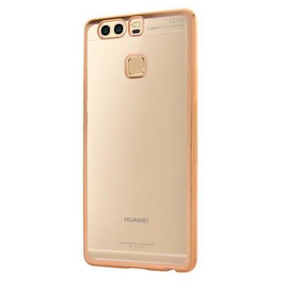 Microsonic Huawei P9 Kılıf Flexi Delux Gold Cep Telefonu Kılıfı