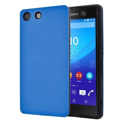 Microsonic Sony Xperia M5 Kılıf Linie Anti-shock Mavi Cep Telefonu Kılıfı