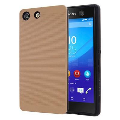 Microsonic Sony Xperia M5 Kılıf Linie Anti-shock Gold Cep Telefonu Kılıfı