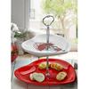 Keramika Set Meyvalık Kalp 2 Katlı Beyaz 004-kırmızı 506 Red Love Keramıra A Tabak