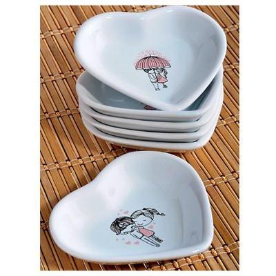 Keramika Set Cerezlık Kalp 14 Cm 6 Parca Beyaz 004 Pınk Love Keramıra A Küçük Mutfak Gereçleri