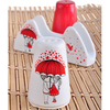 Keramika Set Tuzluk Bıberlık Ada Pecetelık Platın 3 Parca Beyaz 004-kırmızı 506 Red Love Keramıra A Tabak