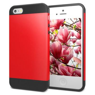Microsonic Iphone Se Kılıf Slim Fit Dual Layer Armor Kırmızı Cep Telefonu Kılıfı