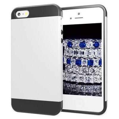 Microsonic Iphone Se Kılıf Slim Fit Dual Layer Armor Beyaz Cep Telefonu Kılıfı