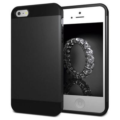 Microsonic Iphone Se Kılıf Slim Fit Dual Layer Armor Siyah Cep Telefonu Kılıfı