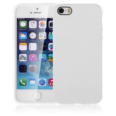 Microsonic Iphone Se Kılıf Dot Style Silikon Beyaz Cep Telefonu Kılıfı