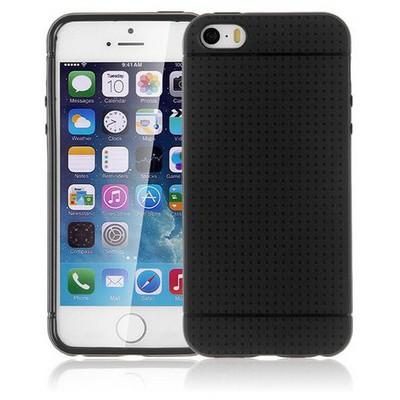 Microsonic Iphone Se Kılıf Dot Style Silikon Siyah Cep Telefonu Kılıfı