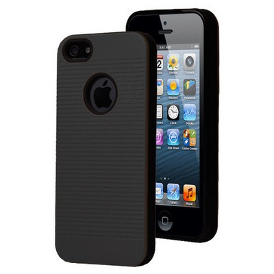 Microsonic Iphone Se Kılıf Linie Anti-shock Siyah Cep Telefonu Kılıfı