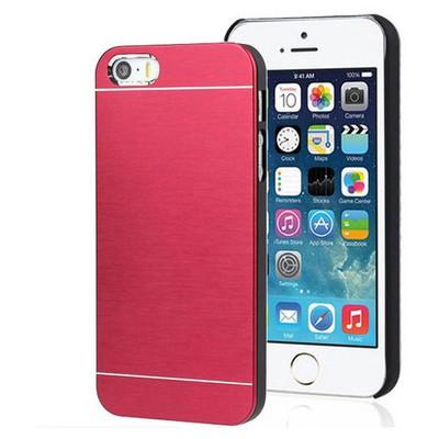 Microsonic Iphone Se Kılıf Hybrid Metal Kırmızı Cep Telefonu Kılıfı