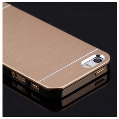 Microsonic Iphone Se Kılıf Hybrid Metal Gold Cep Telefonu Kılıfı