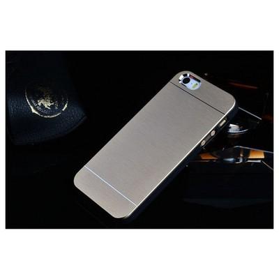 Microsonic Iphone Se Kılıf Hybrid Metal Gümüş Cep Telefonu Kılıfı